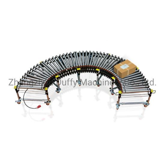 Telescopic O Belt Motor Driven Expandable Motorized Roller Conveyor