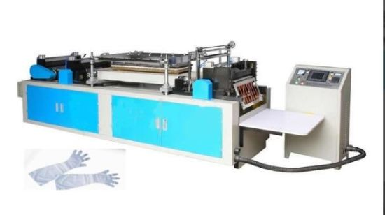 Automatic Disposable Plastic Long Arm Sleeve Hand Cover HDPE Glove Making Machine