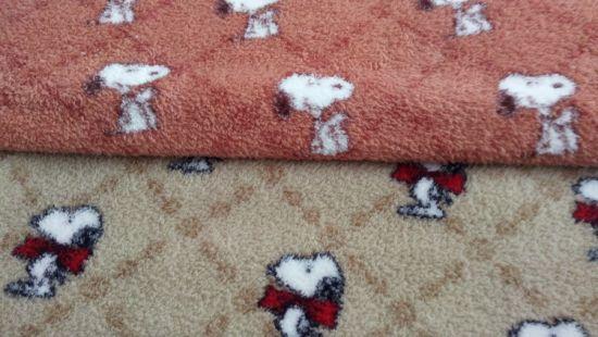 Beautiful Sherpa Print Carpet Mat Knitting Garment Polyester Velvet Home Textile Fleece Fabric