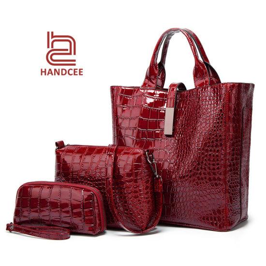Tote Handbags for Women 2in1 Ladies Bag PCS Luggage Travel Bags Set 3 in One Handbag
