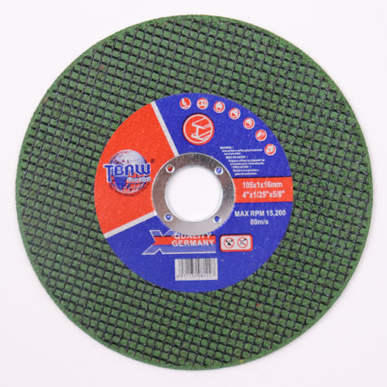 """Factory High-Sharpness Small Size 4""""105*1.0*16mm Abrasive Resin Cut off Disc, Flat Cutting Wheel for Metal Cutting"""