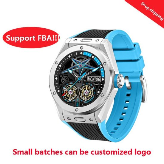 Full-Touch Bluetooth Men Smart Watch That Can Measure Body Temperature and Oxygen