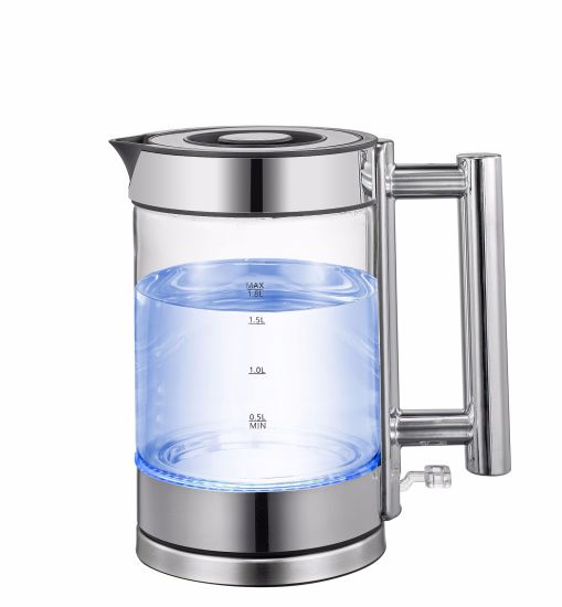 China Factory Double Gold Temperature Control Environmental Glass Electrical Kettle