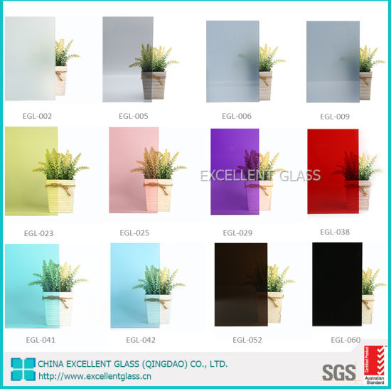 6.38mm 10.38mm Clear Laminated Glass/Tinted Laminated Glass with PVB Color