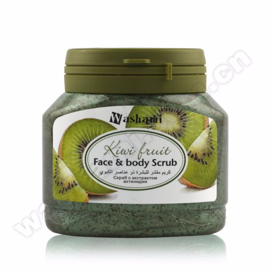 Washami Organic Natural Plant Essence Whitening Body Scrub with Pecan Shell Powder pictures & photos
