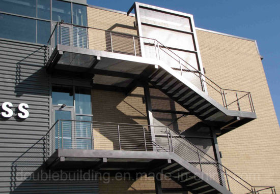 Antiskid Exterior Straight Staircase Carbon Steel Stairs