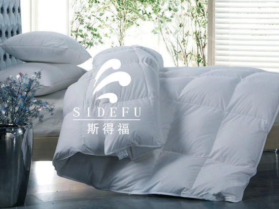 Five-Star Hotel Luxury Down and Feather Duvets Comforters in Quilt pictures & photos