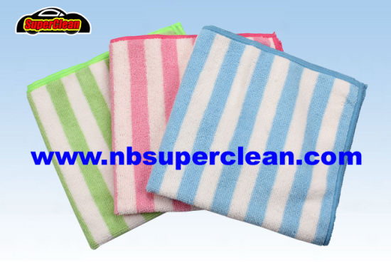 High Water Absorbent Wholesale Microfiber Cleaning Car Cloth Kitchen Cleaning Microfiber Towel (CN3653)