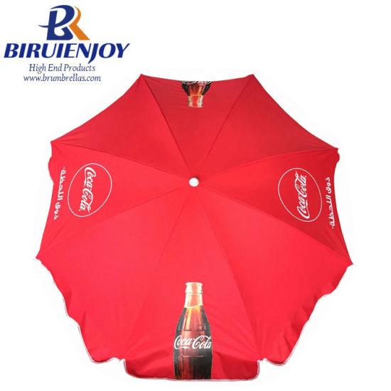 Custom Outdoor Large Size Beach Sun Umbrella 180 Cm with Logo/Design Printing by Digital