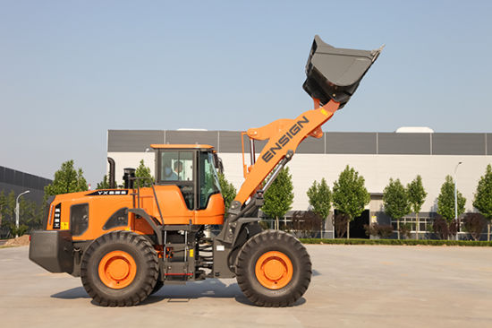 Chinese Construction Machinery 5 Ton Front Wheel Loader Ensign Yx656 with Joystick pictures & photos