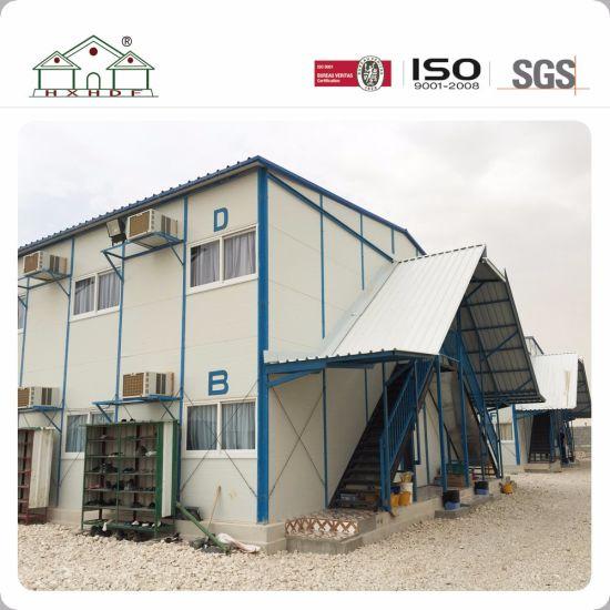 Elegant Sandwich Panel 2 Floor Steel Frame Prefab House For Temporary Working  Office. Get Latest Price