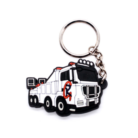 Rubber Key Chain for Publicity Gift Metalfashion Promotion Attachment Airplane Alarm pictures & photos