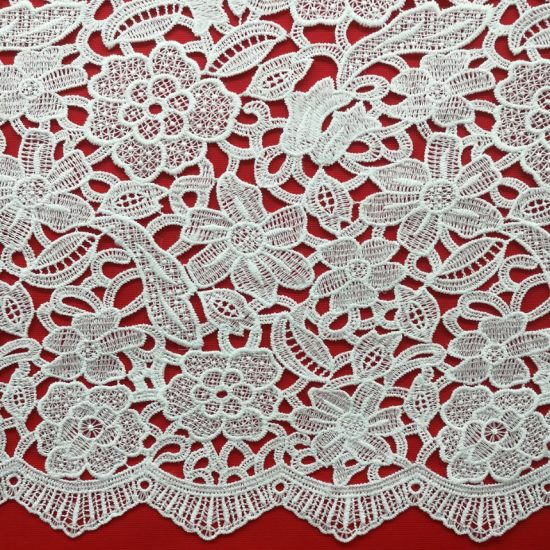 High Quality Milk Silk Embroidery Lace for Fashion Wear