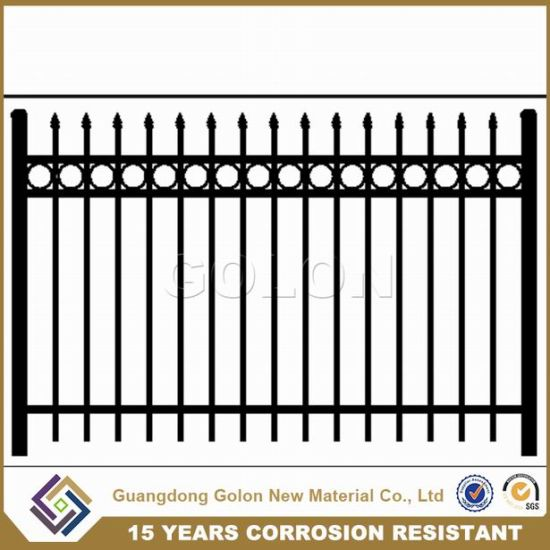 China Spear Top Powder Coating Cheap Ornamental Galvanized Villa ...