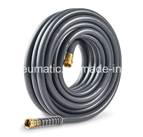 1/2′′x50FT Heavy-Duty PVC Braided Garden Hose with Brass Fitting pictures & photos