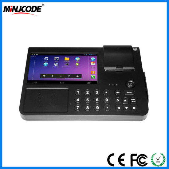 Payment Touch Screen Tablet 7 Inch POS Terminals for Restaurant or Supermarket, POS Systems, Cash Register with Barcode Scanner Printer, Mj PC701 pictures & photos