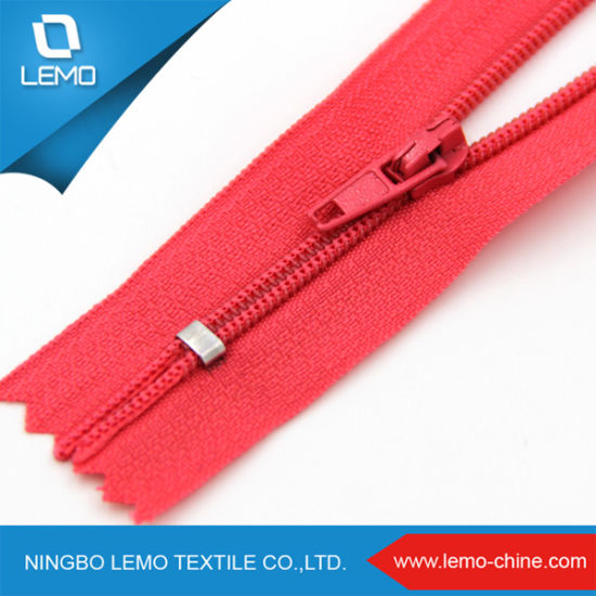 Sale Fancy Nylon Heavy Duty Jacket Zippers for Front Dress pictures & photos