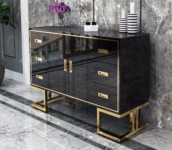 A33 Luxury Design Steel Frame In Golden