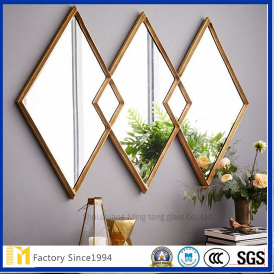 Unframed Polished Edge Bathroom Mirror with SGS and Ce Certificate