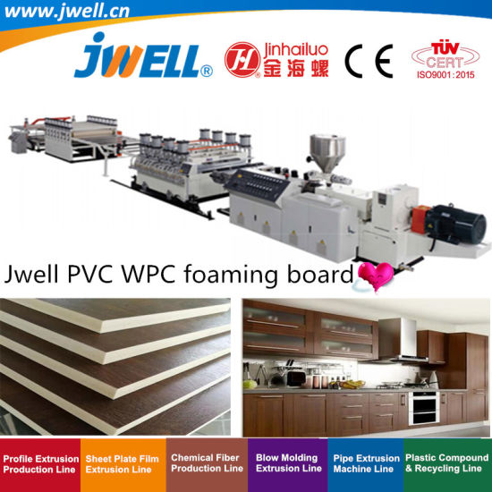 Jwell-PVC|WPC Plastic Foaming Sheet/Board Recycling Plastic Cup Making Extrusion Machine