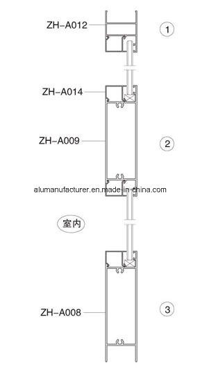 Zh-A37 Series Casement Aluminium Alloy Extrusion Profile for Door and Window pictures & photos