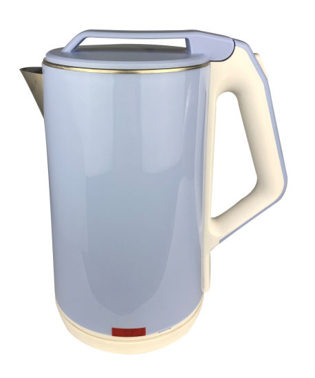 Light Blue Plastic Electronic Kettle with Automatic Lid-Opening Function