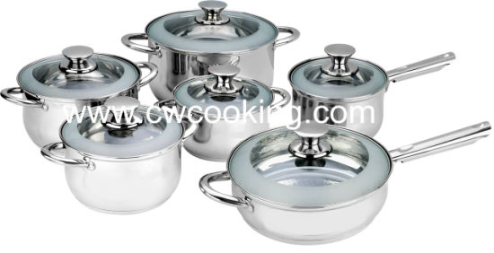 Stainless Steel Cookware Set with Ss Hollow Handle