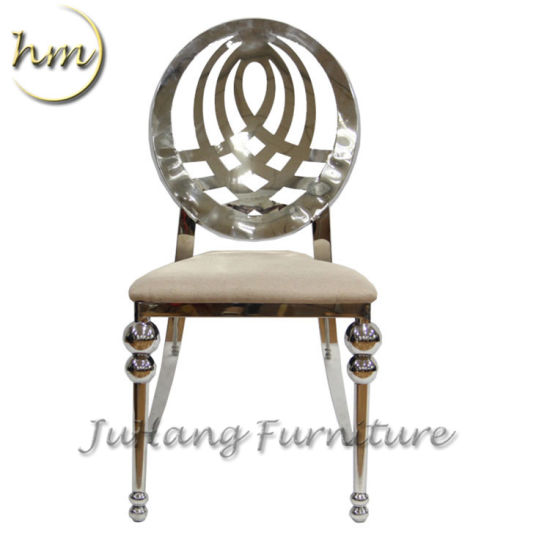 Modern Wedding Silver Banquet Hotel Restaurant Living Dining Room Furniture Stainless Steel Chair