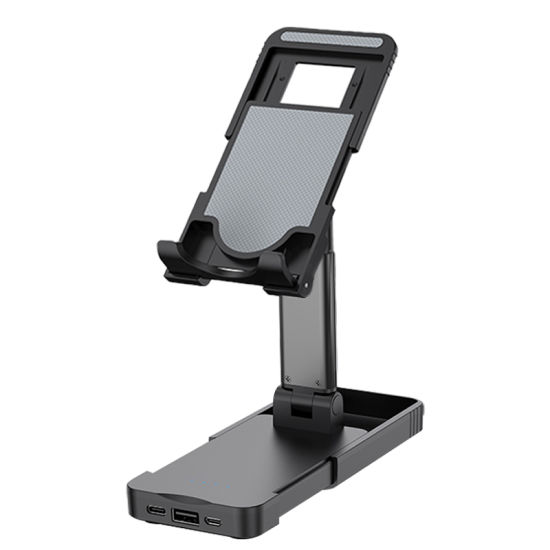 Lifting Folding Desktop Tablet Phone Holder Bracket Cell Phone Stand with Power Bank