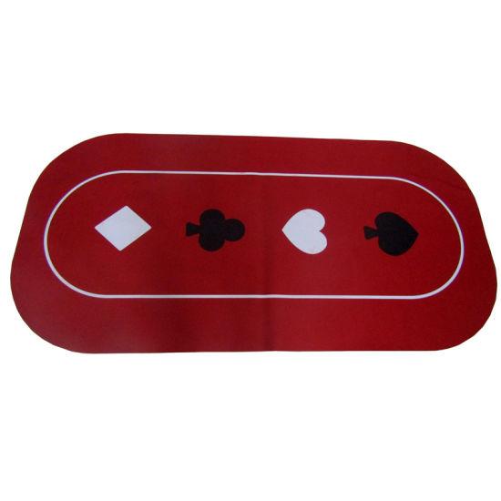 Customized Design Rubber Poker Table Mat/Large Table Mat