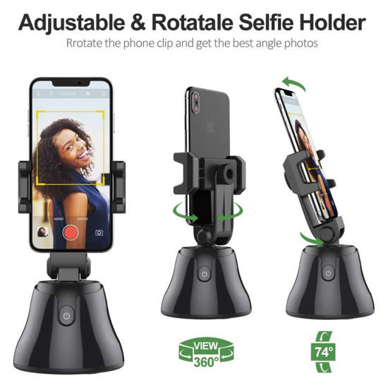 360 Auto Tracking Selfie Smart Shooting Phone Holder Mobile Smart Phone Face Tracking Stand Object Tracking Holder