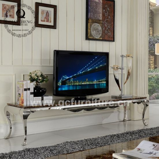 Simple Design Four Legs TV Stand with Marble Top 870#