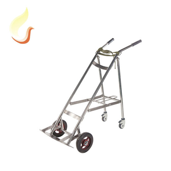 B5 China Carry Double Oxygen Cylinder Steel Hand Truck Gas Trolley