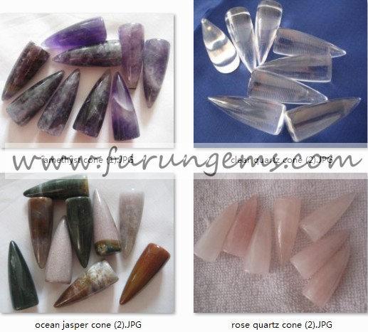 Semi-Precious Stone Cone/Bullet