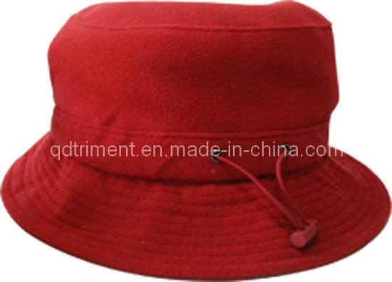 b02f07b1888 China Polar Fleece Adjustable Plastic Snap Warm Bucket Hat (TRBT006 ...