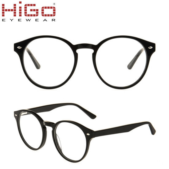 Popular Acetate Glasses Round Optical Frames with Low Price