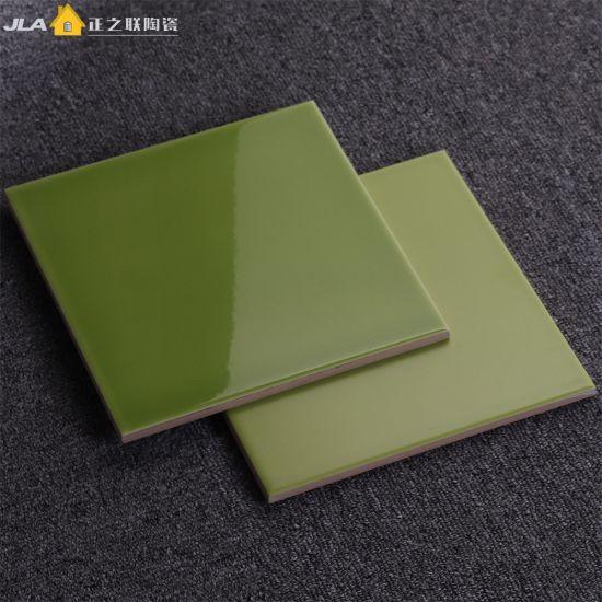 China Yellowish Green 8X8inch/20X20cm Terracotta Tile Price ...