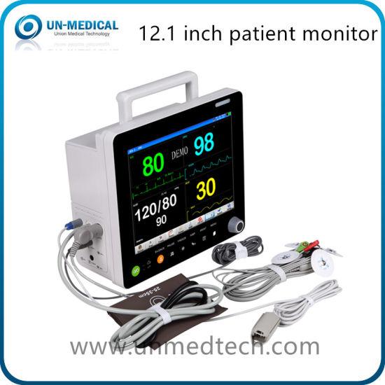 Medical Instrument 12 Inch Hospital Portable Bedside ICU Multi Parameter Patient Monitor