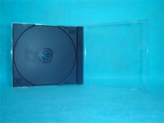 CD Box CD Case CD Cover 10.4mm Single Square with Black Tray