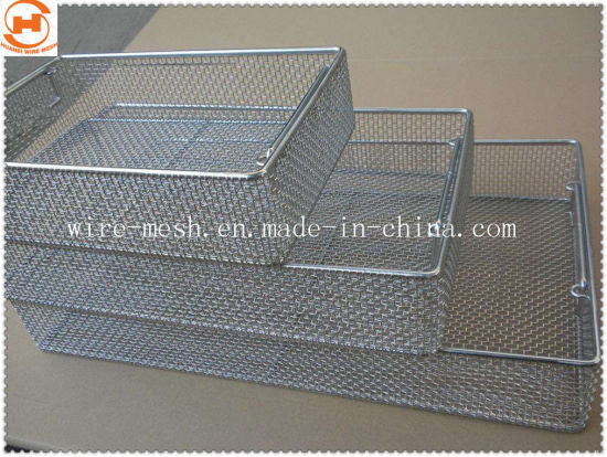 Medical Stainless Steel Wire Mesh Filter Disinfecting Basket