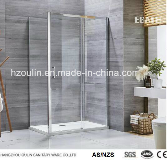 Square or Rectangle Shower Enclosure with Single Door and Solid Panel