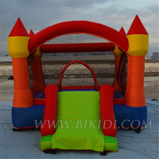 Home Used Inflatable Mini Nylon Bouncy Castles with Slide for Kids H1026 pictures & photos
