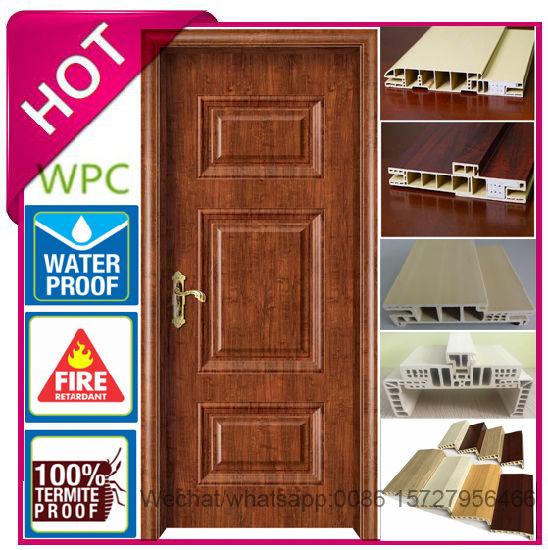 China Fireproof Waterproof Interior Door House Waterproof Wpc Door