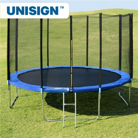 10FT 12FT 14FT Trampoline with Safety Enclosure Net, Outdoor Backyard Trampolines for Kids