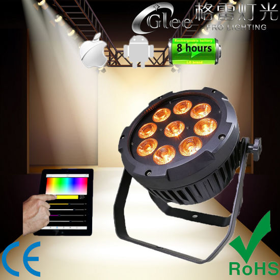 9 18w Rgbwa Uv 6in1 Led Outdoor Battery