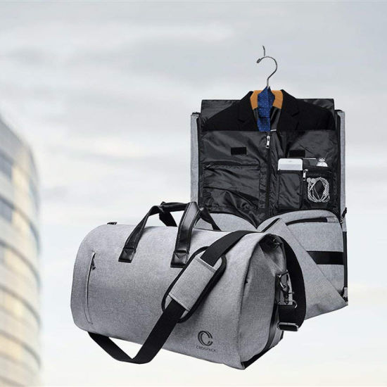 Foldable 2 in 1 Travel Garment Duffle Bag for Men and Women with Shoe Compartment