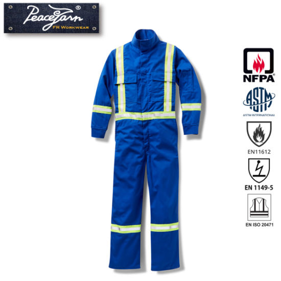 eb25e6f9823 China Fire Retardant Coverall Fr Clothing Flame Resistant Reflective ...