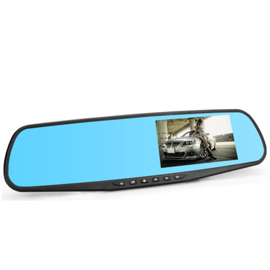 2018 Hot Selling HD 1080P Mirror DVR with Night Vision Dual Camera Car Black Box Dashcam pictures & photos