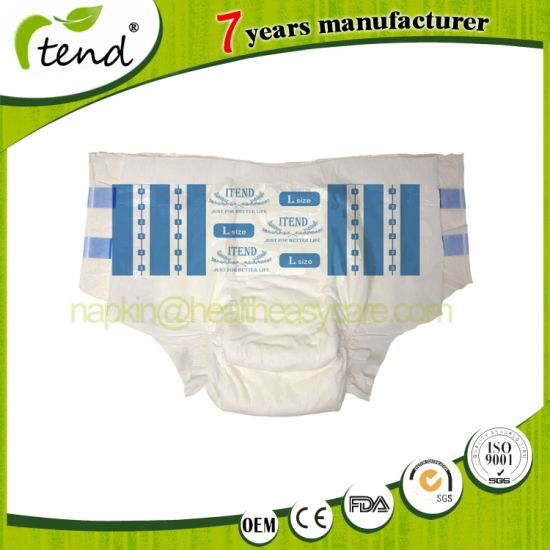Wholesale Overnight Absorbency Disposable/Adult Nappy/Adult Brief/Soft Backsheet PP Tape Velcro Adult Diaper