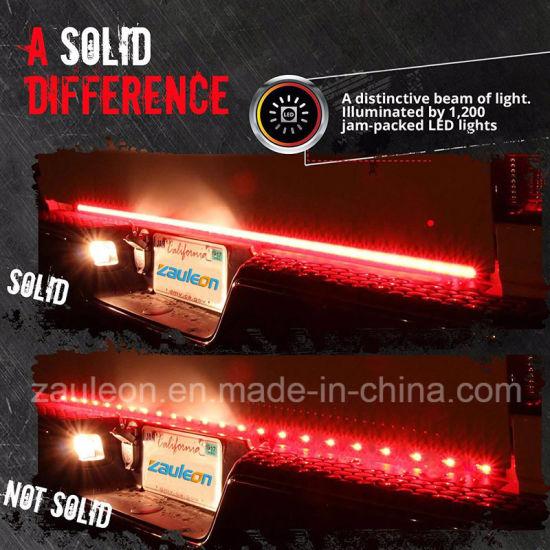 Full Function Reverse Brake Running Sequential Amber Turn Signal 60′′ LED  Tailgate Light Bar for Trucks SUV Trailer